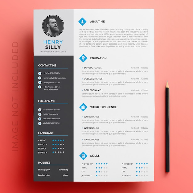 Editable formato cv descarga Descargar Vectores Premium