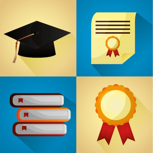 Felicitaciones tarjeta de graduación Descargar Vectores Premium