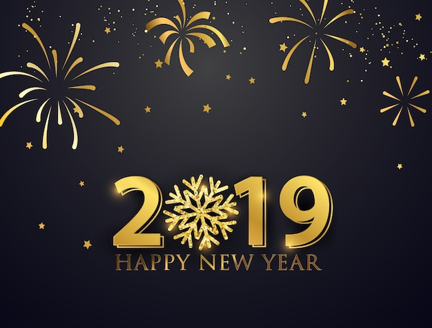 Nice Wallpapers Happy New Year Greetings Quotes 1080p Feliz A 241 O Nuevo 2019 Descargar Vectores Premium