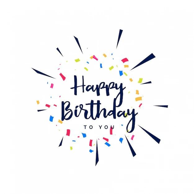 Feliz cumpleaños letras con confeti Descargar Vectores gratis