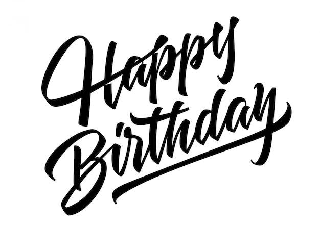 Feliz cumpleaños letras Descargar Vectores gratis
