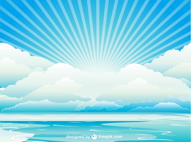 Fondo con cielo y nubes Descargar Vectores gratis - fondo nubes