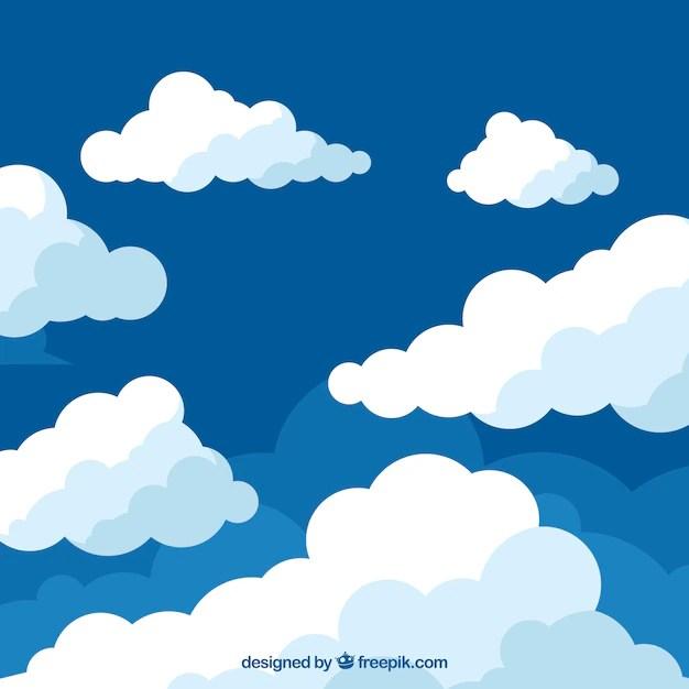 Fondo de nubes en diseño plano Descargar Vectores gratis - fondo nubes