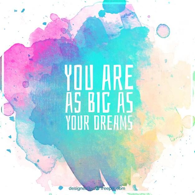 Free Inspirational Quotes Wallpaper Fondo En Acuarela Con Frase Motivacional Descargar