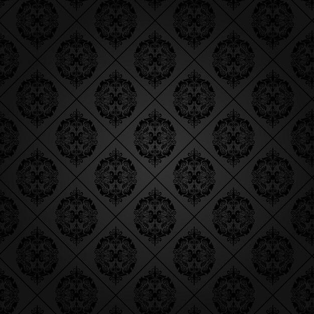Card Wallpaper Hd Fondo Negro Con Elegantes Ornamentos Descargar Vectores