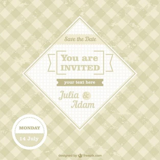 Invitación de boda vintage, formato vectorial Descargar Vectores