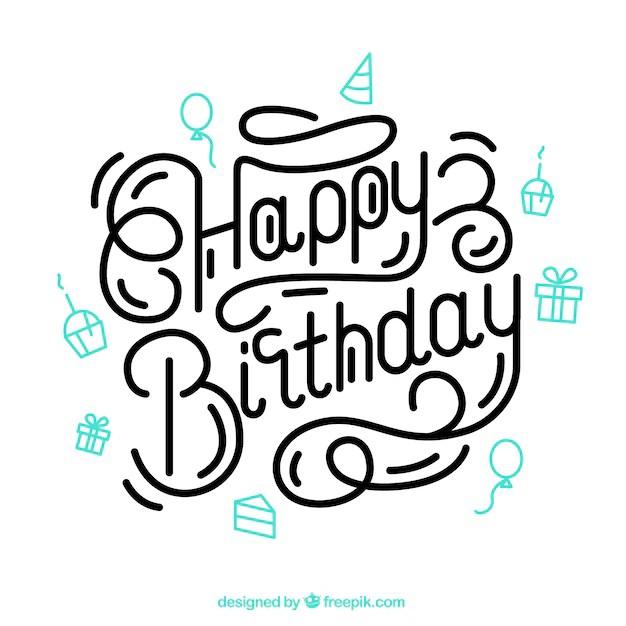 Letras de cumpleaños feliz Descargar Vectores gratis