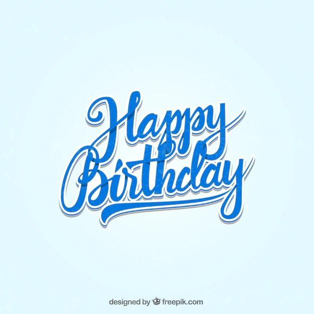 Letras feliz cumpleaños Descargar Vectores gratis