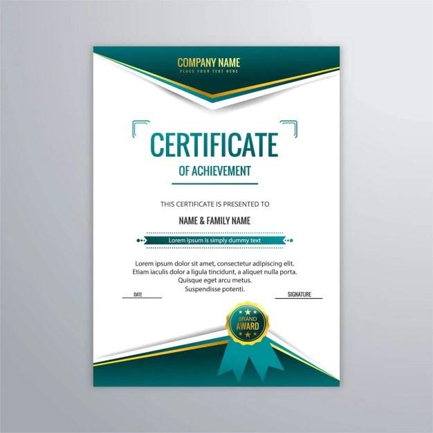 Modelo de certificado en estilo moderno Descargar Vectores gratis