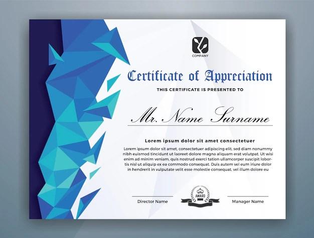 Modelo de certificado de logro moderno Descargar Vectores Premium
