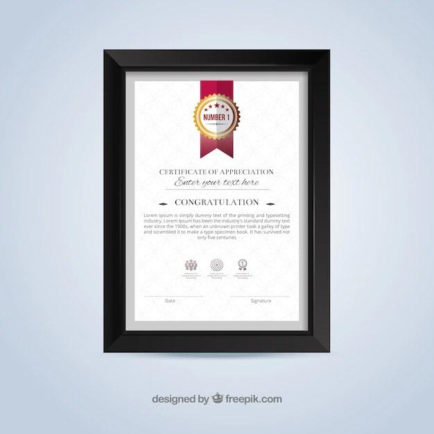Plantilla de certificado de reconocimiento Descargar Vectores gratis