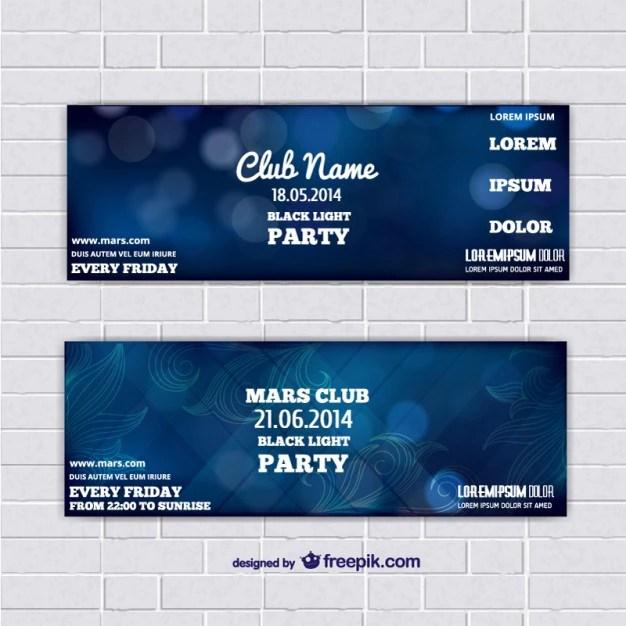 Plantilla de entrada para evento Descargar Vectores gratis - como hacer boletos para un evento