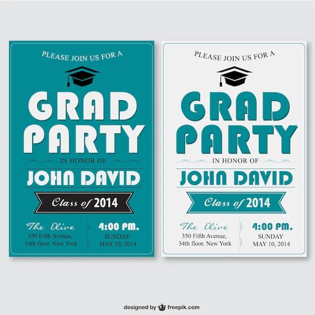 Plantilla de fiesta de graduación Descargar Vectores gratis