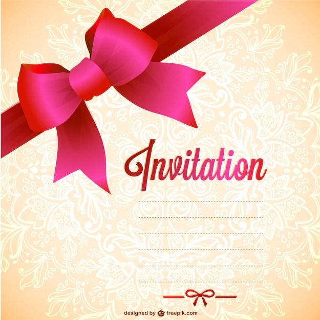 Plantilla de invitación para imprimir gratis Descargar Vectores gratis - plantillas para invitaciones gratis
