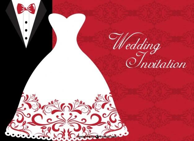 Plantilla invitación de boda Descargar Vectores gratis