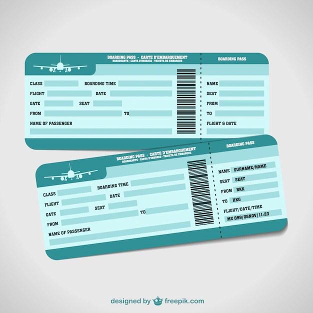 Plantillas de billetes de avión Descargar Vectores gratis - como hacer boletos para un evento