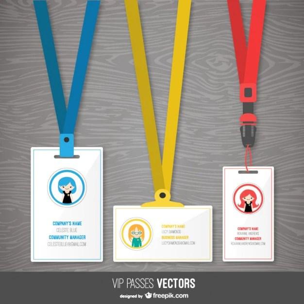 Plantillas de pases vip Descargar Vectores gratis - formatos para gafetes