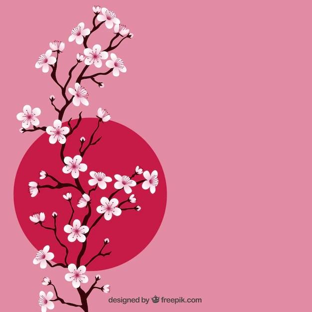 Rama con flores de cerezo Descargar Vectores gratis