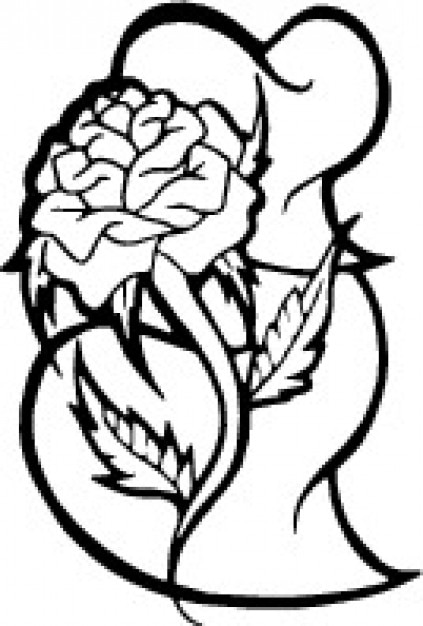 Rosas y corazones Descargar Vectores gratis