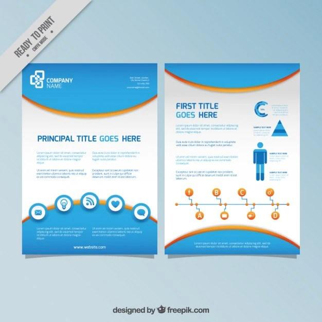 Azul infografia panfleto Baixar vetores grátis