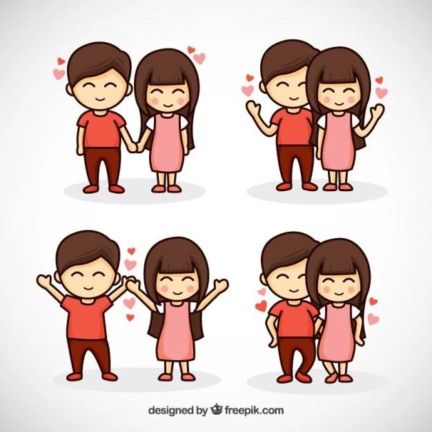 Cute Love Cartoon Couples Wallpapers Desenho Lindo Casal Unido Baixar Vetores Gr 225 Tis