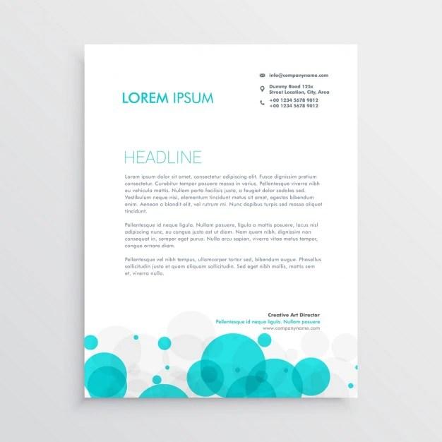 Design moderno azul círculos papel de carta Baixar vetores grátis