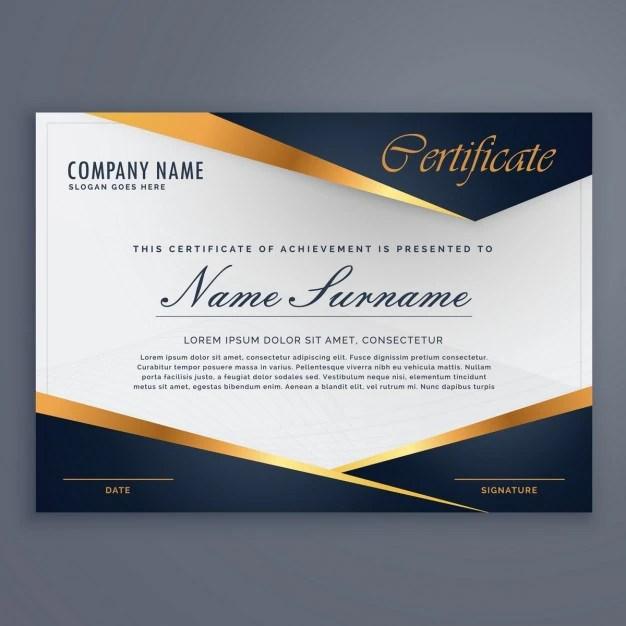 Diploma prémio modelo de certificado de luxo Baixar vetores grátis