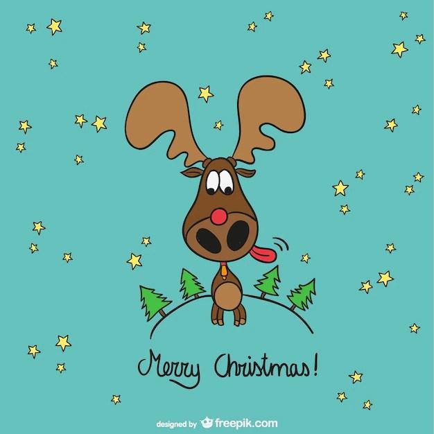 Moose Cute Minimalist Wallpaper Feliz Natal Dos Alces Dos Desenhos Animados Baixar