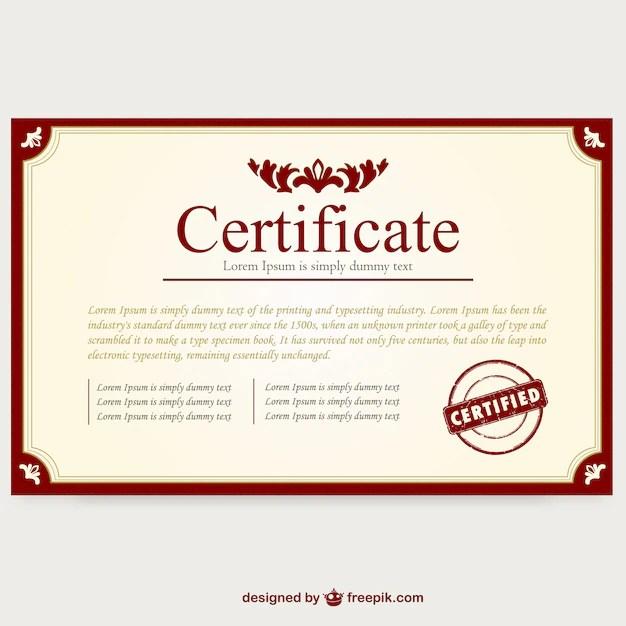 Layout do modelo de certificado Baixar vetores grátis - modelos de certificados