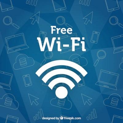 Wifi fundo com esboços | Baixar vetores grátis