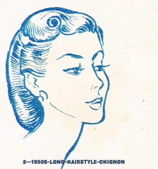 1950s Hairstyles Chart for your hair length Glamour Daze