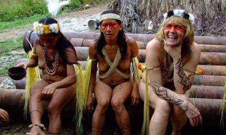amazon tribes women bathing