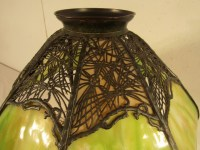 HANDEL PANELED GLASS LAMP