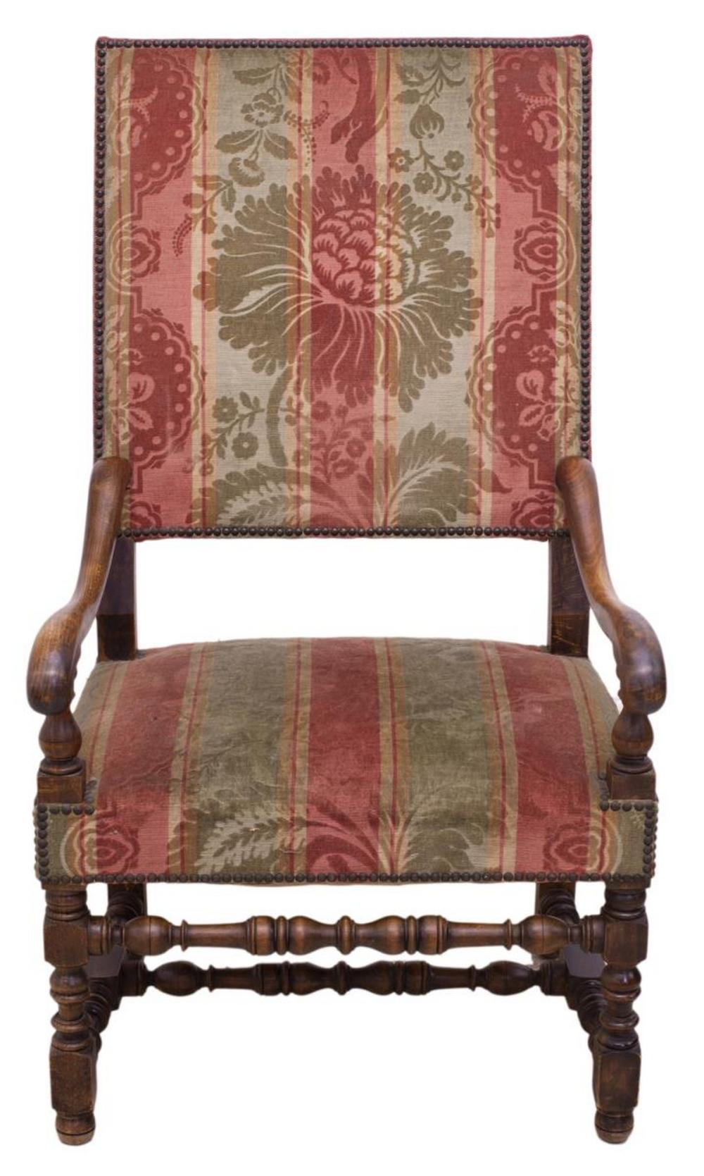 Fauteuils Louis 13 Louis Xiii Style High Back Upholstered Fauteuil