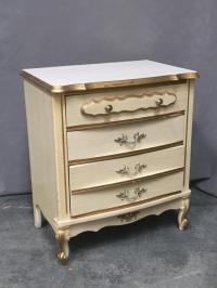 3 Piece girls white & gold furniture set