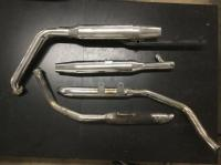 set of 4 used harley davidson exhaust pipe and mufflers