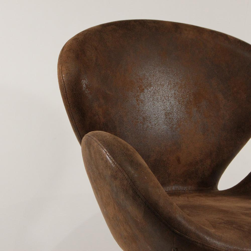 Sold Price Arne Jacobsen Fritz Hansen Style Leather Swan Chair April 1 0119 5 00 Pm Edt