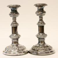 VICTORIAN STYLE STERLING SILVER CANDLE HOLDERS