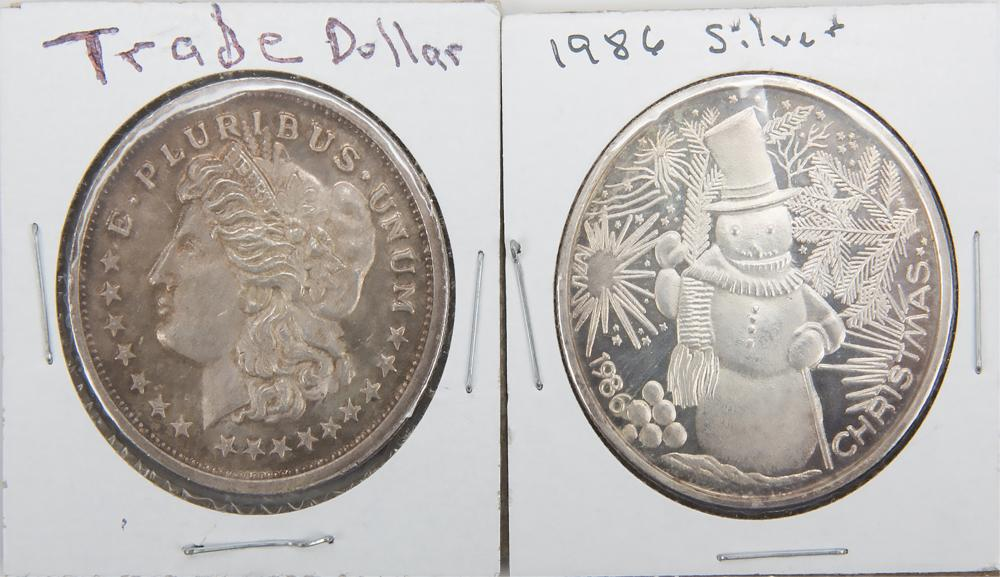 Two One Ounce 999 Fine Silver Rounds