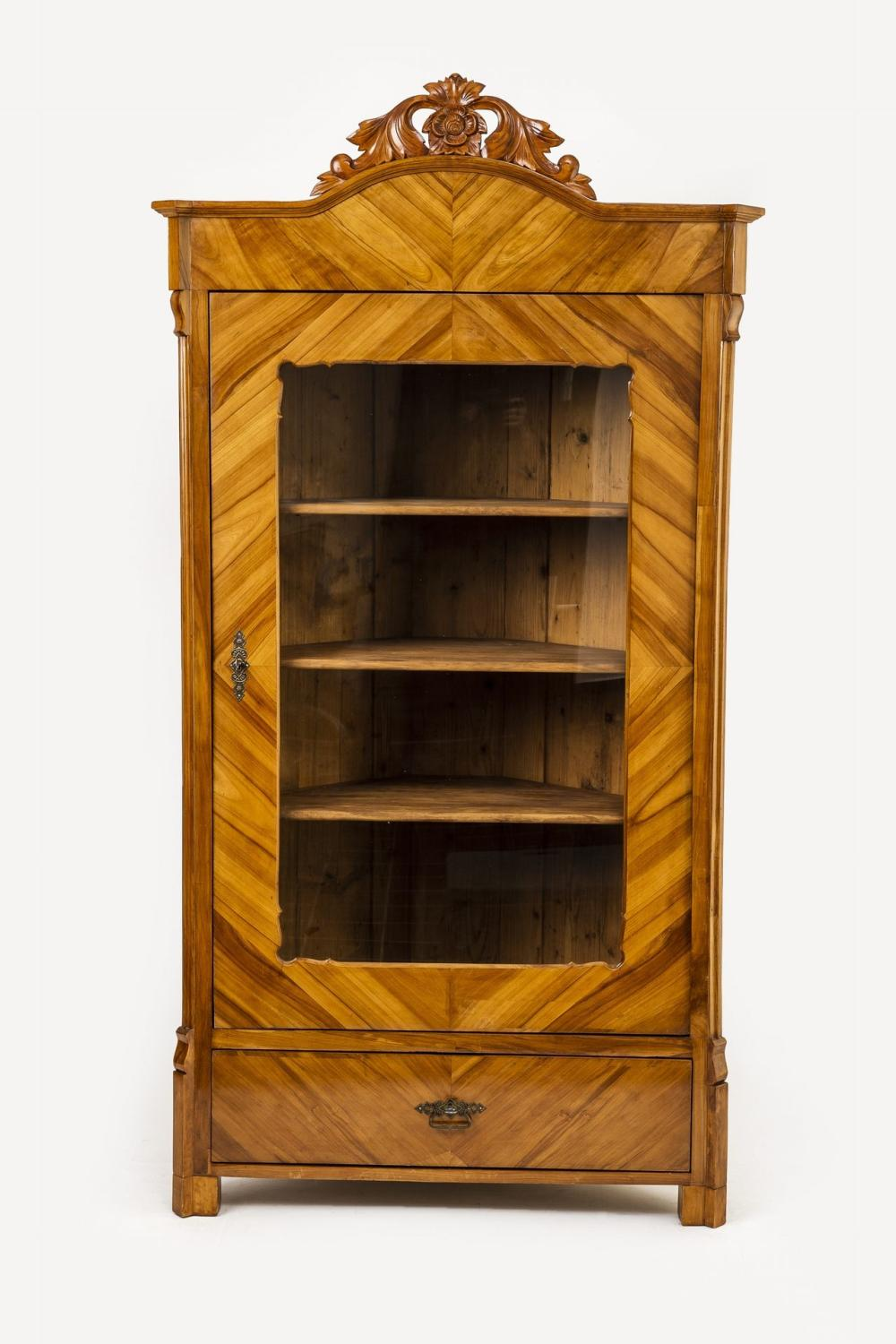 Eckvitrine Kirschbaum Bid Now: Biedermeier-eckvitrine - April 5, 0121 5:00 Pm Cest