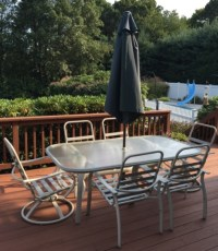 Contemporary Patio / Outdoor Dining Table & Chairs