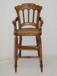 Antique American Victorian Baby High Chair