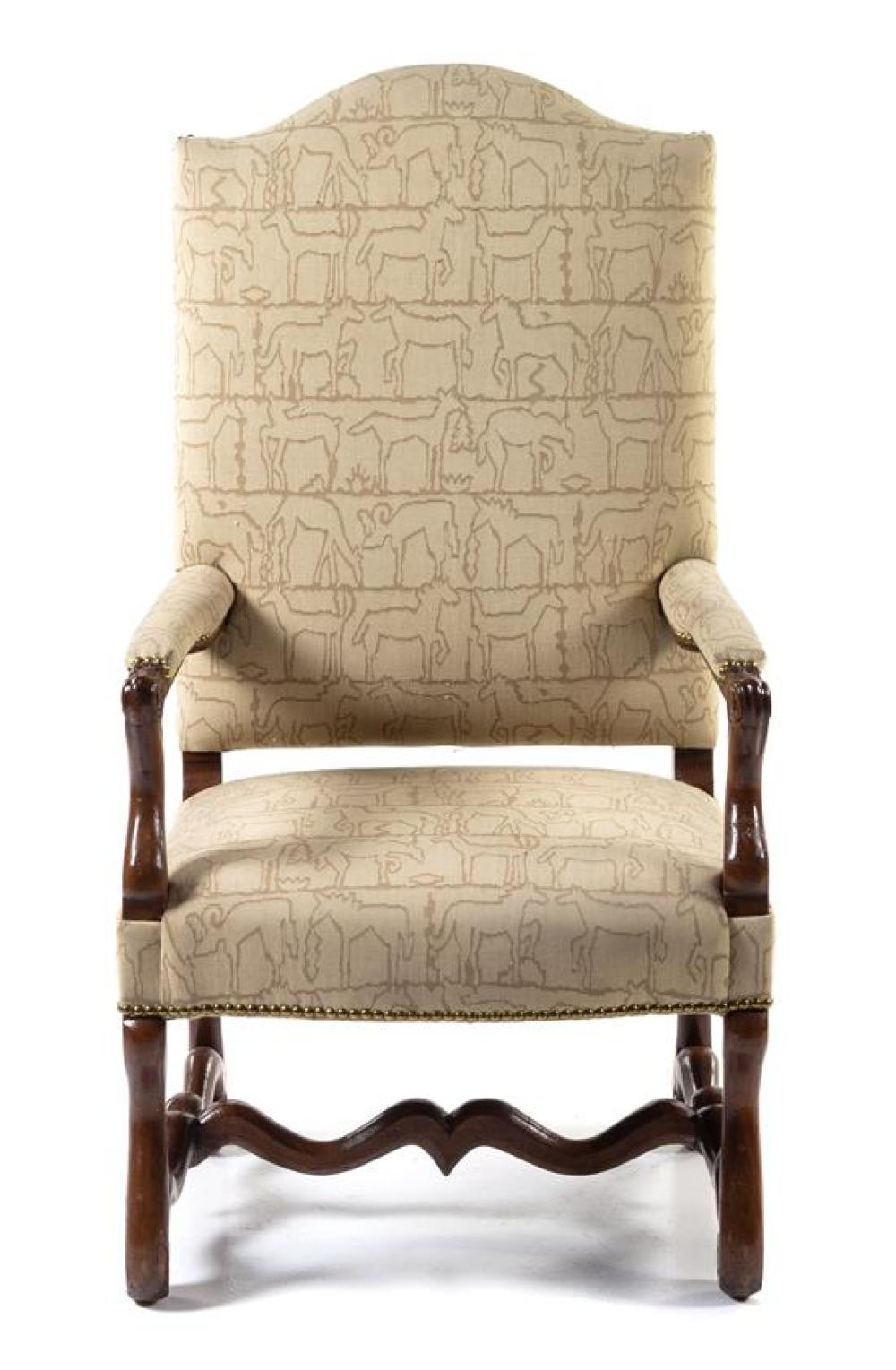 Fauteuils Louis 13 A Louis Xiii Style Walnut Fauteuil Height 48 Inches