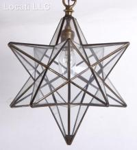 Two Moravian Star Type Light Fixtures