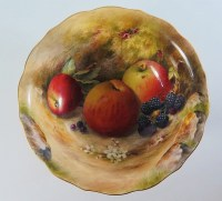 A Royal Worcester Bowl decorated with fruit