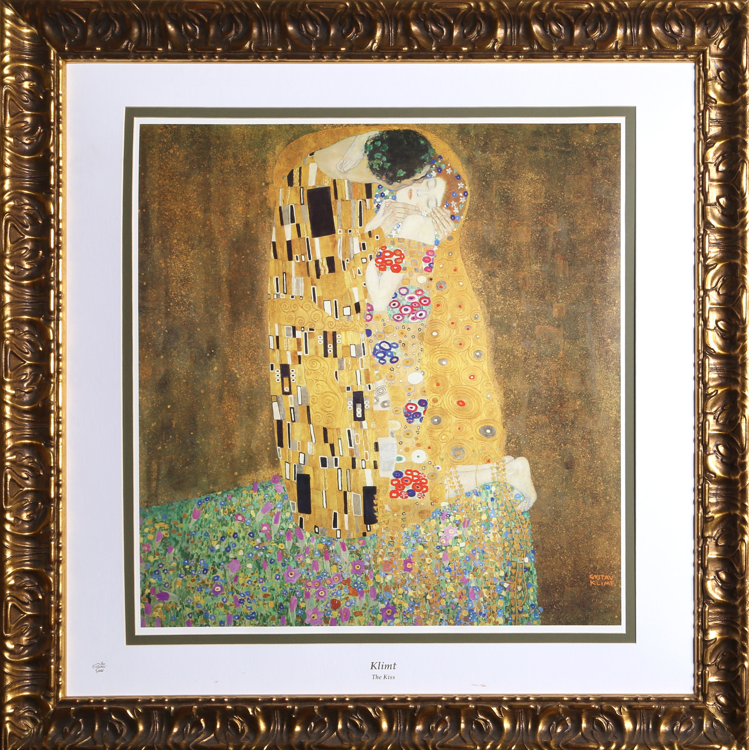 Lot Gustav Klimt The Kiss Lithograph Poster By The Collector S Guild