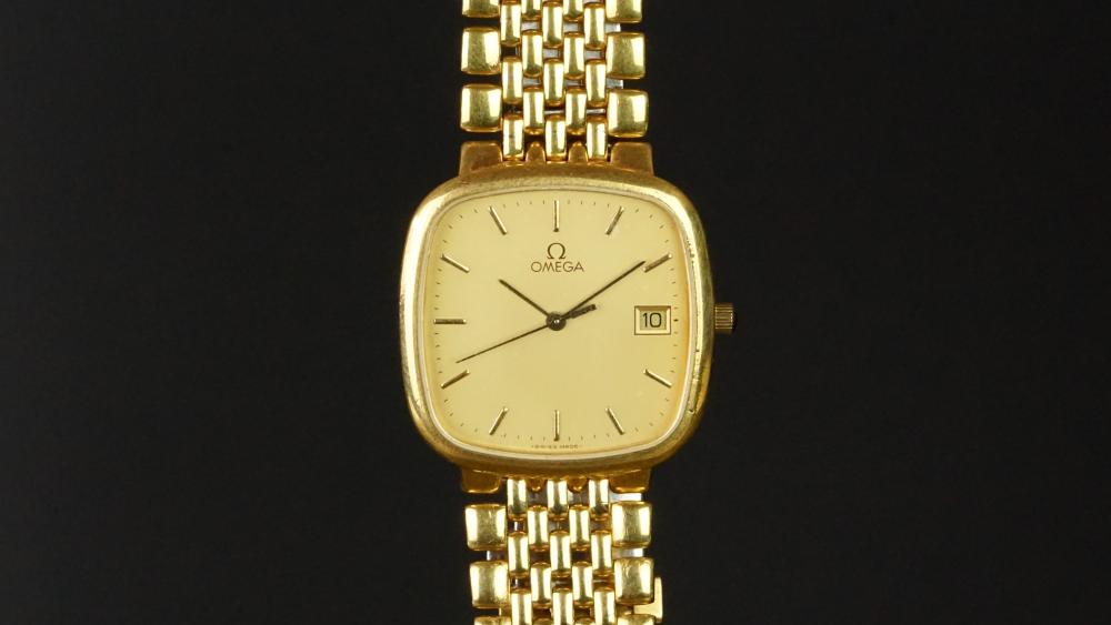 Mid Size Omega Deville Wristwatch Rounded Square Dial With