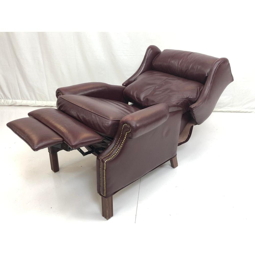 Sold Price Bradington Young Wine Leather Wing Chair Recliner February 2 0119 11 00 Am Est