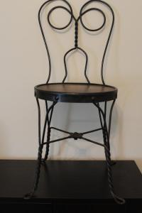 Antique Wrought Iron Ice Cream Parlor Chair