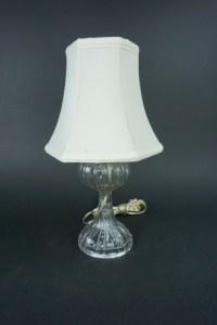 VINTAGE PRESSED GLASS STUDENT DESK LAMP